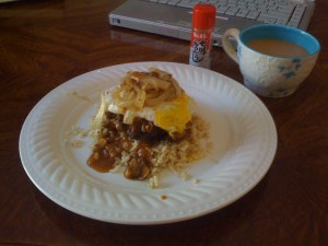 This version of Loco Moco won't get you nominated for nutrition sainthood, but it's pretty damn good.